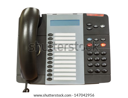 Black modern telephone - stock photo