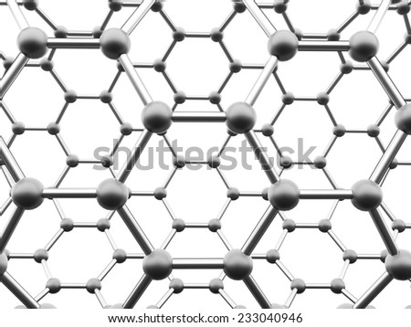 Black molecular mesh structure rendered - stock photo