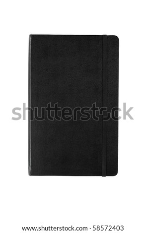 Black moleskine - stock photo