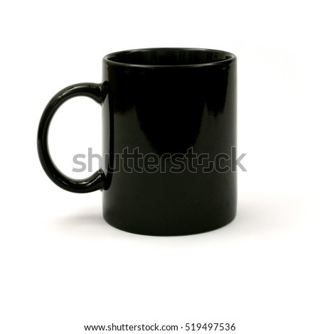 black mug on white background