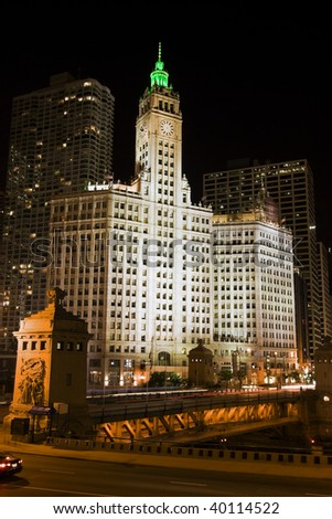 Black Night in downtown Chicago