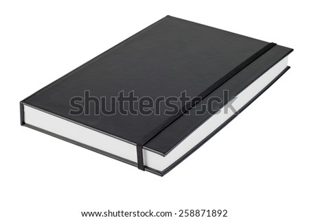 black note book isolate on white background - stock photo