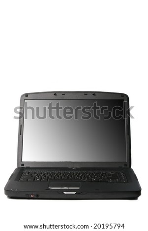 Black notebook  isolated on a white background