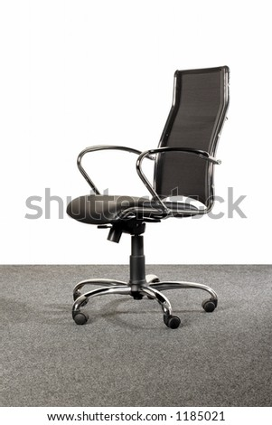 black office chair - stock photo
