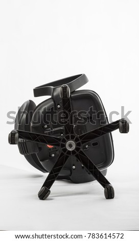 Black office chair on wheels broken