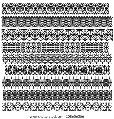 Black ornamental trim collection