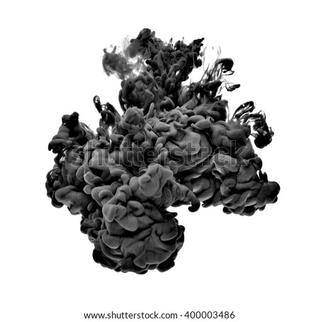 black paint in water - stock photo