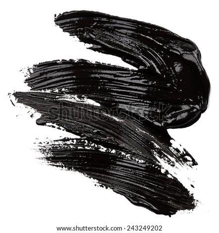 Black paint isolated on white background - stock photo