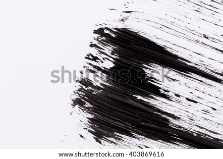 Black paint isolated on white paper background