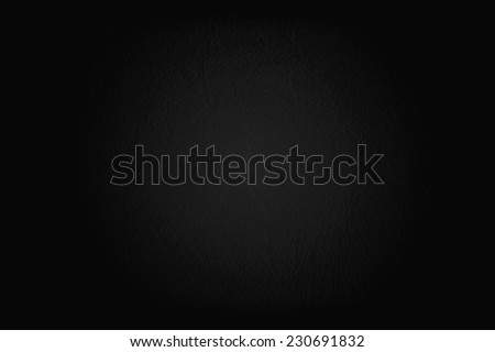 Black painted wall texture background - stock photo