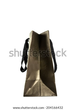 black paper bag - stock photo