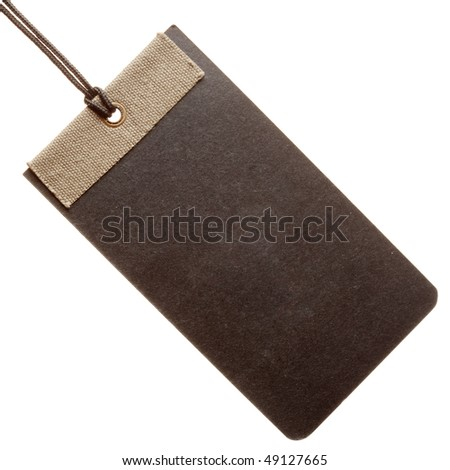 Black paper tag isolated on white background - stock photo