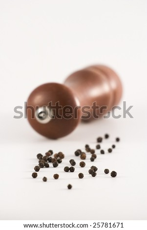Black pepper seeds - stock photo