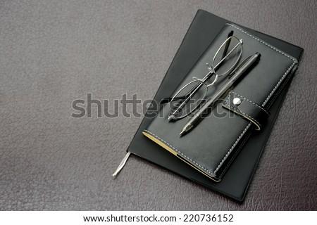 Black personal organizer - stock photo