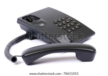 Black phone - stock photo