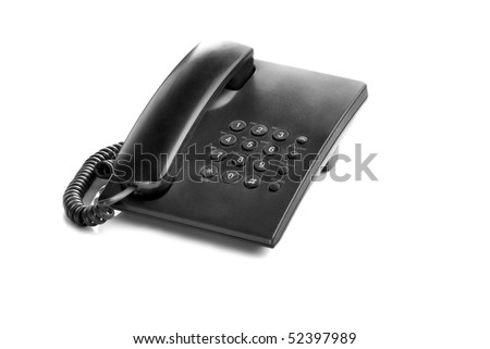 Black Phone with digital buttons