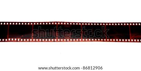 black photo film isolated on white background - stock photo