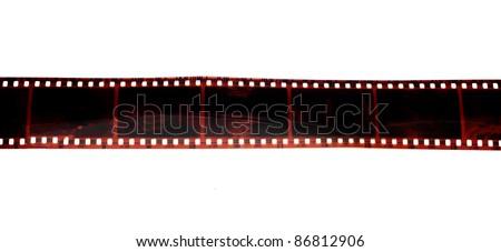 black photo film isolated on white background - stock photo