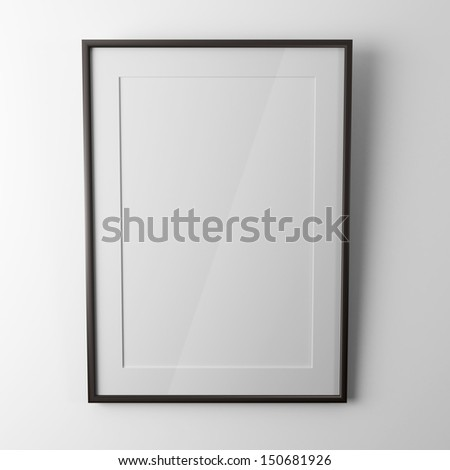 black picture frame - stock photo