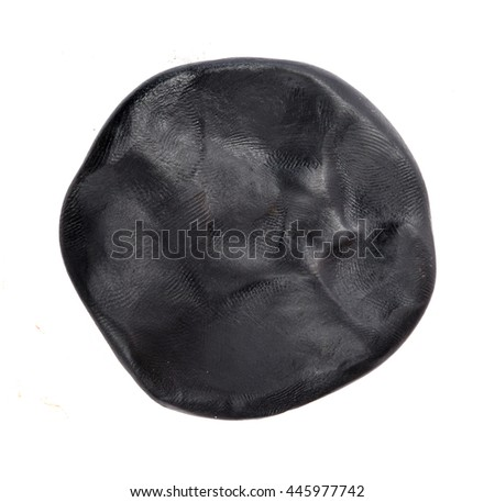Black plasticine background