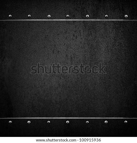 black plate - stock photo