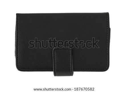 Black pocket leather