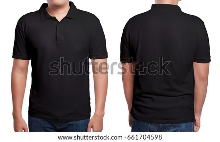 Black polo tshirt mock up front stock photo royalty free for T shirt mockup front and back