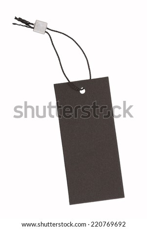 Black price label, isolated - stock photo