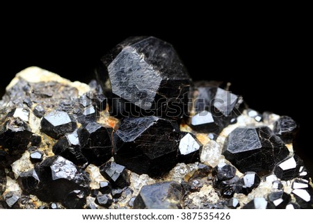black pyrope as nice natural mineral background