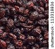 Black Raisins Texture - stock photo