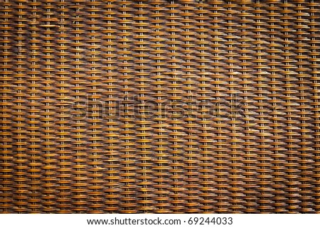black rattan wood texture - stock photo
