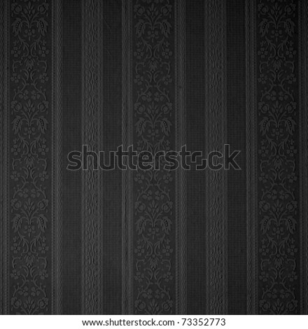black retro damask wallpaper background See my portfolio for more - stock photo