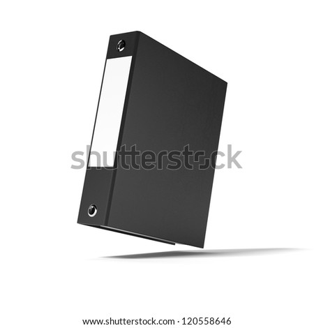 Black ring binder - stock photo