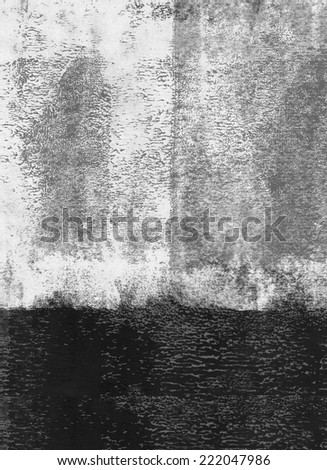 Black rolled paint background - stock photo