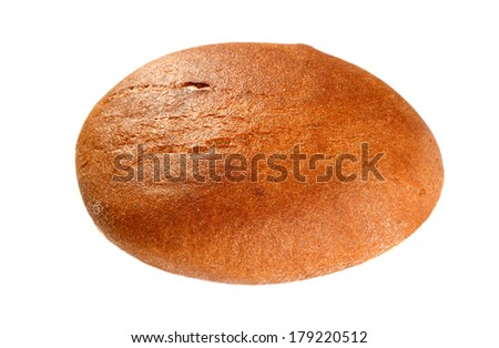 Black round bread isolated on a white background