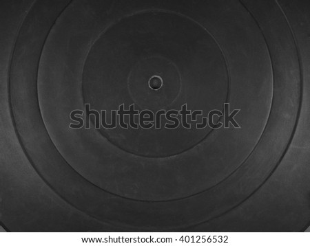 Black rubber platter mat for a phonograph aka turntable