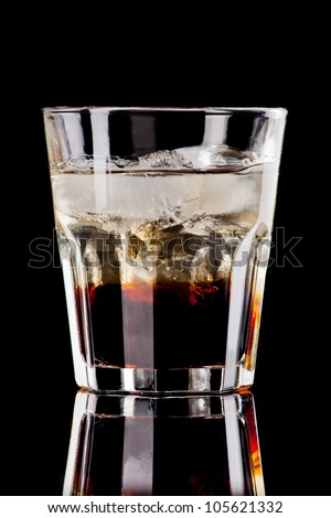 Black russian cocktail - stock photo