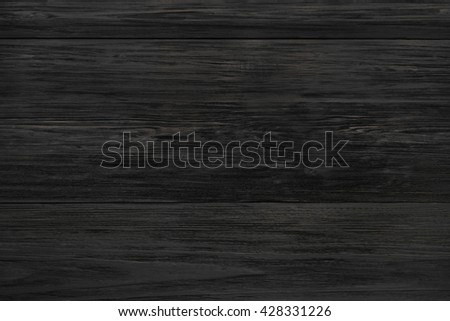 Black rustic wood texture and background.  - stock photo