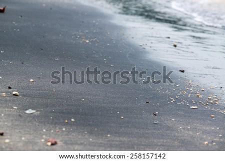 Black sand Beach Langkawi, Malaysia - stock photo