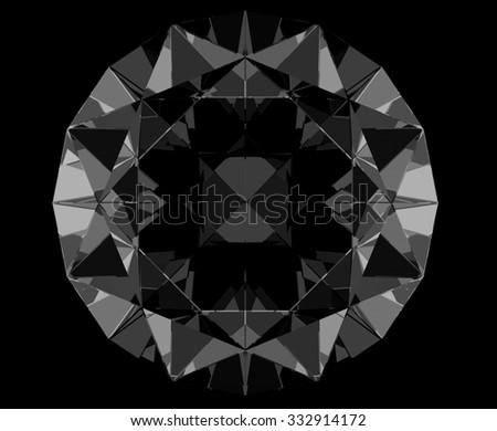 black sapphire isolated - stock photo