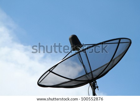 Black satellite dish