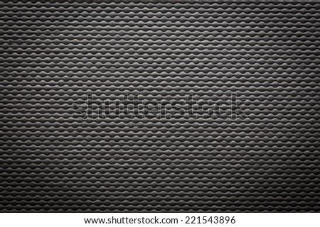 black seamless fabric background - stock photo