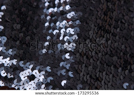 black sequins texture background/Balck sequins pattern texture fashion background - stock photo