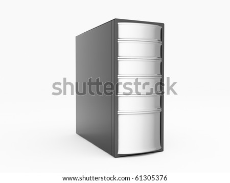 Black Server - stock photo