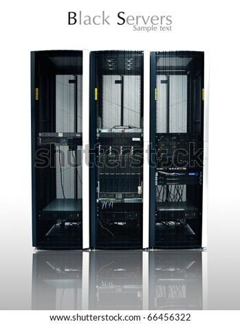 black server or data center Isolated