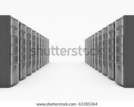 Black Servers - stock photo
