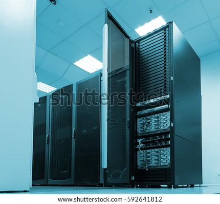 Black servers and hardwares in internet data center