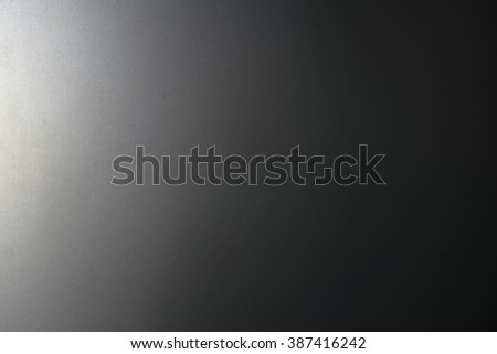 Black shade paint on steel texture background