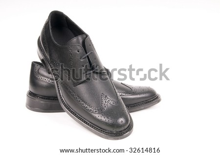 black shiny man's shoe -similar image-