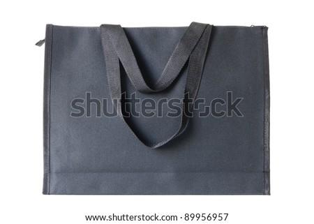 black shopping bag on white background - stock photo